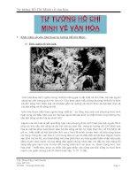 Tư tưởng Hồ Chí Minh về văn hóa doc