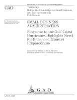 Response to the Gulf Coast Hurricanes Highlights Need for Enhanced Disaster Preparedness docx