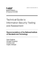 technical guide to information security testing and assessment pot