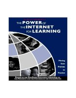 THE POWER OF THE INTERNET FOR LEARNING: MOVING FROM PROMISE TO PRACTICE pptx