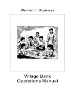 Women in Business - Village Bank Operations Manual potx