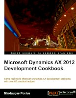 Microsoft Dynamics AX 2012 Development Cookbook pot