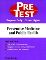 Preventive Medicine and Public Health: PreTest® Self-Assessment and Review, Ninth Edition pot