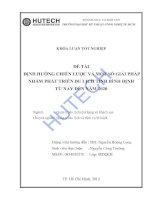 Luận văn: Định hướng chiến lược và một số giải pháp nhằm phát triển du lịch tỉnh Bình Định từ nay đến năm 2020 potx