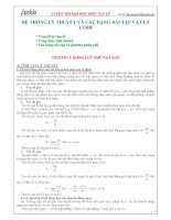 Hệ thống lý thuyết và các dạng bài tập Vật Lý LTĐH docx