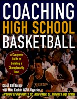 Coaching High School Basketball : A Complete Guide to Building a Championship Team docx