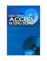 Giáo trình Access và ứng dụng pdf