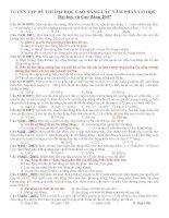 Dao động cơ học: bài tập và đáp án dành cho đại học và cao đẳng 2007