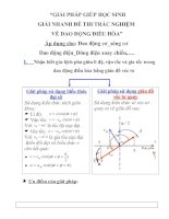giải bài tập về dao động điều hòa môn vật lí