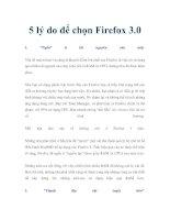5 lý do để chọn Firefox 3.0 doc