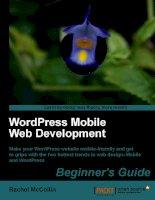 WordPress Mobile Web Development Beginner''''s Guide ppt