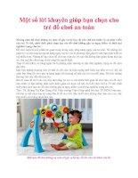 Một số lời khuyên giúp bạn chọn cho trẻ đồ chơi an toàn pot
