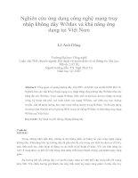 nghiên  cứu ứng dụng công nghệ mạng truy cập không dây wimax
