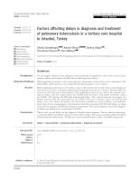 Factors affecting delays in diagnosis and treatment of pulmonary tuberculosis in a tertiary care hospital in Istanbul, Turkey pptx