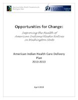 Opportunities for Change: Improving the Health of American Indians/Alaska Natives in Washington State docx