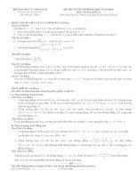 đề thi đại học môn toán năm 2009 khối d