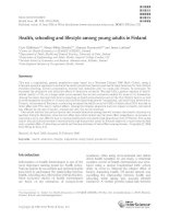 Health, schooling and lifestyle among young adults in Finland ppt