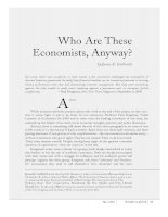 Who Are These Economists, Anyway? potx