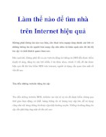 Làm thể nào để tìm nhà trên Internet hiệu quả pdf