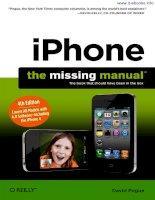 iPhone: The Missing Manual iPhone: The Missing Manual, Fourth Edition potx