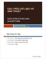 BÀI GIẢNG CẤU TRÚC DỮ LIỆU VÀ GIẢI THUẬT DATA STRUCTURE AND ALGORITHMS pptx
