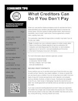 What Creditors Can Do If You Don't Pay doc