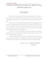 Đề tài: Triển khai hệ thống mail Exchange Server 2003 cho Trường CĐ-KT-KT Quảng Nam pot