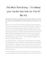 Phố Đinh Tiên Hoàng – Nơi không gian văn hóa tâm linh của Thủ đô Hà Nội doc