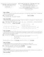 Đề thi học kì 1 môn Hóa nâng cao năm 2013 trường Chu Văn An pptx