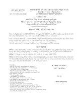QCVN 03-2009-BXD- Quy chuan phan loai phan cap cong trinh kem theo TT 33-2009_BXD pdf