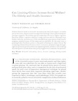 Can Limiting Choice Increase Social Welfare? The Elderly and Health Insurance doc