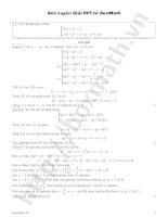 Rèn luyện giải hê phương trình từ BoxMath pot
