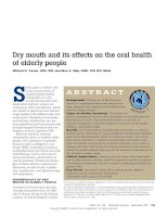 Dry mouth and its effects on the oral health of elderly people pptx