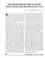 Báo cáo khoa học: Sự đổi mới quan niệm nghệ thuật về con người trongs truyện ngắn Nguyễn Khải sau năm 1975 pptx