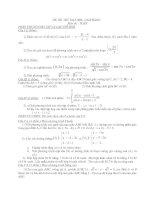 Đề Thi Thử Đại Học Khối A, A1, B,D Toán Học 2013 - Phần 30 - Đề 7 pot