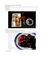 Gợi ý các món ăn ngon cho ngày chủ nhật