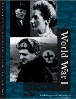 World War I: Biographies doc
