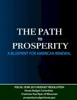 THE PATH TO PROSPERITY A BLUEPRINT FOR AMERICAN RENEWAL pdf
