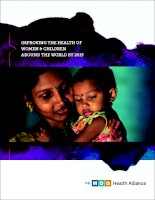 ImprovIng the health of Women & ChIldren around the World by 2015 potx