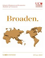 School of Business and Economics Bachelor of Commerce: Broaden docx