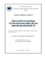 Luận văn: Nâng cao năng lực cạnh tranh của các ngân hàng Thương Mại Việt Nam trong thời kỳ hội nhập pot
