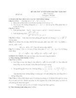 ĐỀ THI THỬ TUYỂN SINH ĐẠI HỌC NĂM 2013 Môn: Toán học ĐỀ SỐ 09 doc