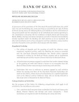 BANK OF GHANA - NOTICE TO BANKS, NON-BANK FINANCIAL INSTITUTIONS AND THE GENERAL PUBLIC pdf
