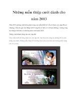 Những mẫu thiệp cưới dành cho năm 2013 doc