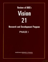 REVIEW OF DOE'S VISION 21 RESEARCH AND DEVELOPMENT PROGRAM—PHASE I potx