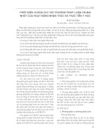 PHÉP BIỆN CHỨNG DUY VẬT PHƯƠNG PHÁP LUẬN CHUNG NHÂT CỦA HOẠT ĐỘNG NHẬN THỨC VÀ THỰC TIỄN Y HỌC pot