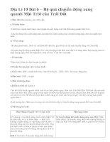 Địa Lí 10 Bài 6 – Hệ quả chuyển động xung quanh Mặt Trời của Trái Đất