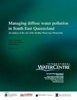 Managing diffuse water pollution in South East Queensland: An analysis of the role of the Healthy Waterways Partnership docx
