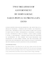TWO TREATISES OF GOVERNMENT ppt