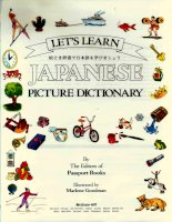 let''s learn japanese picture dictionary